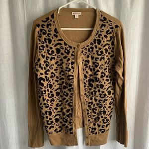 Merona Cheetah Cardigan Sweater